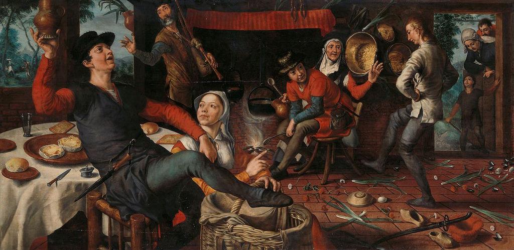 Питер Артсен «Танец с яйцами», 1552. <br>