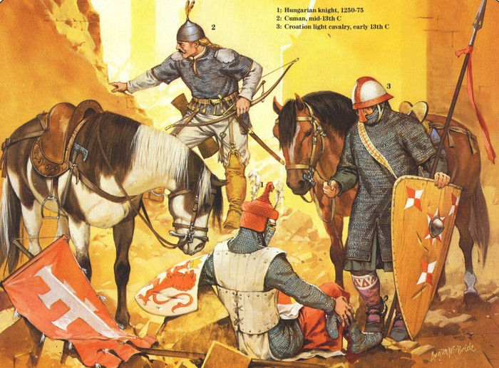 Венгры, хорваты и половцы безуспешно пытались противостоять монголам.